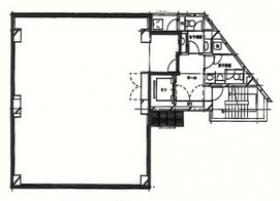 東神田プラザビル:基準階図面
