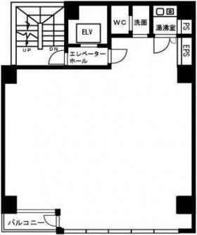 藤井第2ビル:基準階図面