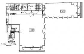 共同ビル(錦町3丁目):基準階図面