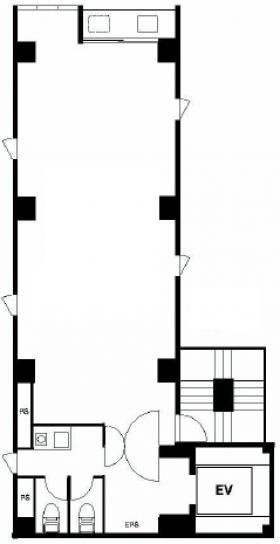 エルヴァージュ神田錦町ビル:基準階図面