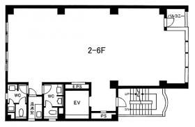 神田第3中央ビル:基準階図面