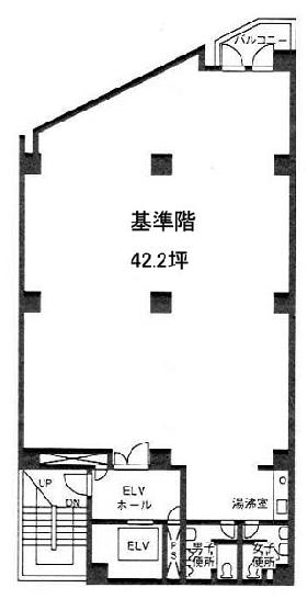 第2進盛ビル:基準階図面
