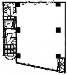 萬水ビル:基準階図面