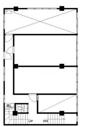 百瀬ビル旧館:基準階図面