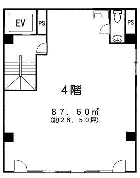 百瀬新館ビル:基準階図面