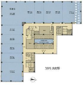 新宿エルタワー:基準階図面