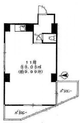 神田セントラルプラザ:基準階図面