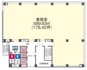 NBF小川町ビル:基準階図面