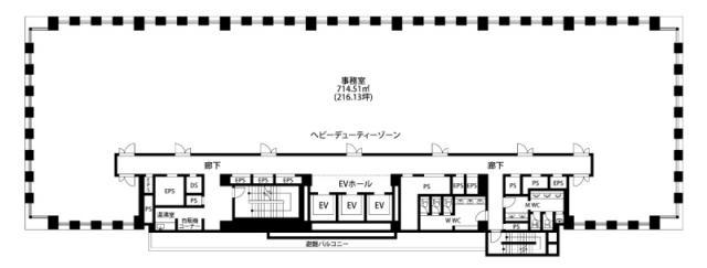 砂防会館 本館 5F 216.13坪(714.47m<sup>2</sup>) 図面