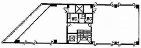 立花書房ビル:基準階図面