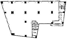 神田第4アメレックスビル:基準階図面