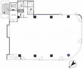 第5古川ビル:基準階図面