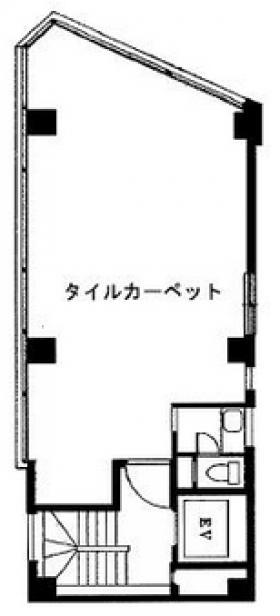 国土淡路町(旧HT淡路町):基準階図面
