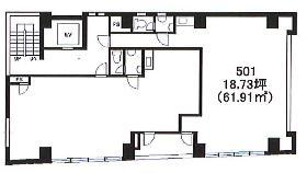 ハローオフィスAkiba(末広町)ビル:基準階図面