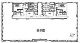 品川シーサイドイーストタワー:基準階図面