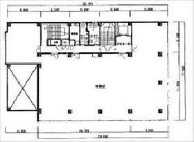 ニシザワビル:基準階図面