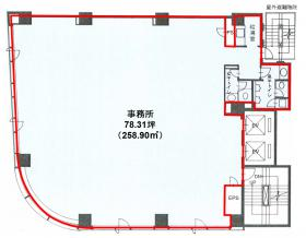 内神田OSビル:基準階図面
