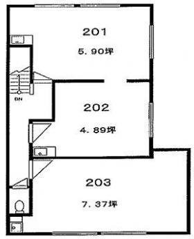 根木ビル:基準階図面