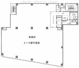 築地第一長岡ビル:基準階図面