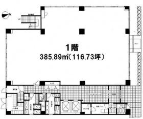 アズ品川ビル:基準階図面