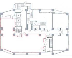 ファーストリアルタワー新宿(旧プロスペクト・アクス・ザ・タワー新館)ビル:基準階図面