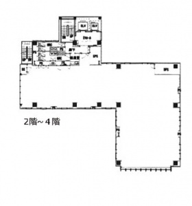 山手新宿ビル:基準階図面