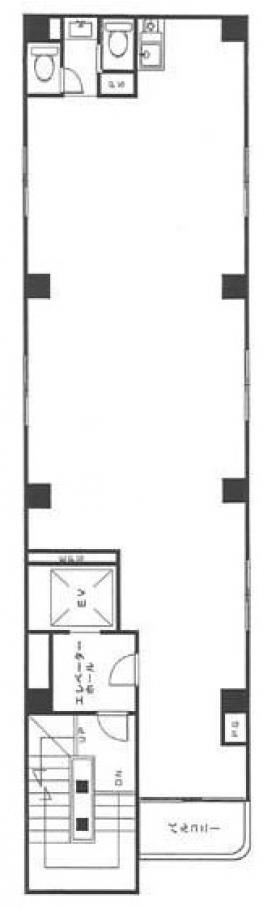 上野Mビル:基準階図面