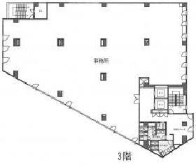 EDGE南青山ビル:基準階図面
