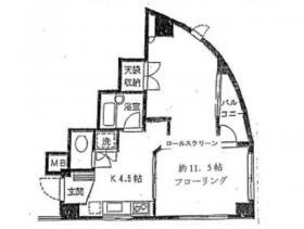 テルジデントⅢビル:基準階図面