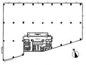 KDX東品川ビル(旧P'S東品川):基準階図面