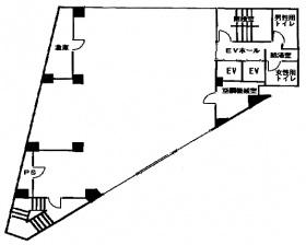 トキワビル:基準階図面