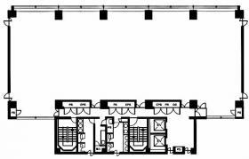 都五反田西館ビル:基準階図面