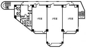 INOビル大崎:基準階図面
