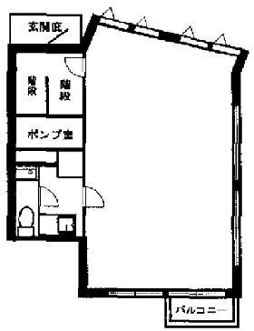 居木橋アネックスビル:基準階図面