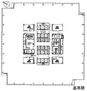 アートヴィレッジ大崎セントラルタワー:基準階図面