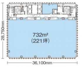 ニッセイ池袋ビル:基準階図面