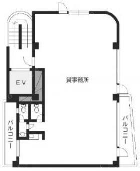 第2弥助ビル:基準階図面
