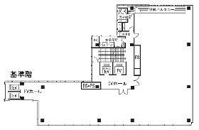京橋創生館ビル:基準階図面