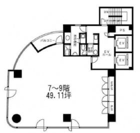 加瀬ビル167:基準階図面