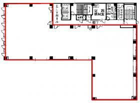 勝永六番町ビル:基準階図面