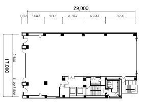 新倉ビル:基準階図面