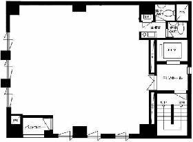 ビジョンオフィス神田ANNEX(神田IK)ビル:基準階図面