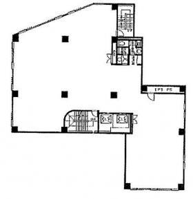 湯島D&Aビル:基準階図面