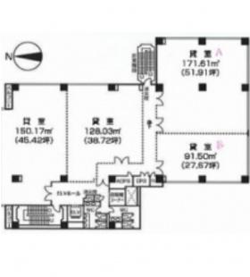 ツインビュー御茶ノ水ビル:基準階図面