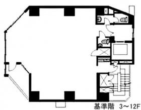 ユニゾ内神田一丁目(AUSPICE内神田)ビル:基準階図面
