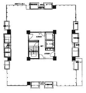 コイトビル:基準階図面