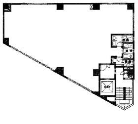 高輪シティビル:基準階図面