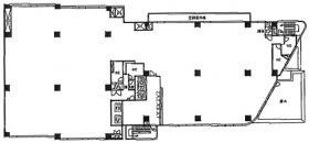 新宿ラムダックスビル:基準階図面