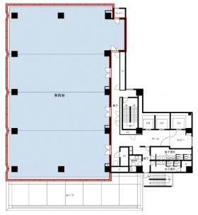 KDX西新橋ビル:基準階図面