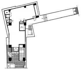 菱和パレス若松町ビル:基準階図面